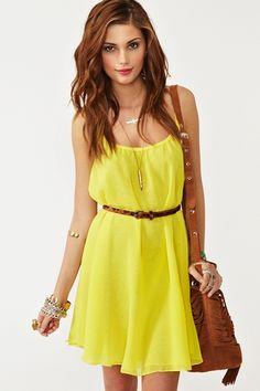 yellow sun dress :)