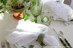 A St. Patrick's Day Table Setting
