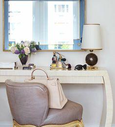 White table vanity. IKEA.