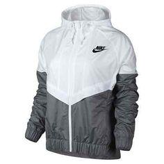 Nike WindRunner Women's Jacket Windbreaker White/Grey 726139-100 Asia Size