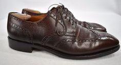 Salvatore Ferragamo Tramezza Maroon Wingtip mens Oxford dress shoes Size 11D  #SalvatoreFerragamo #WingTip