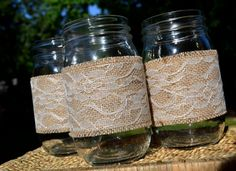 Burlap and Lace! Country Girl at Heart from the Start <3 <3 <3