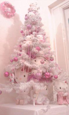 Hello Kitty Christmas tree #kawaii #pink