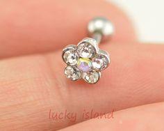 earringTragus Earring Jewelry flower piercing by luckyisland, $4.99