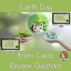 Earth Day Revision Questions This deck revises children's knowledge of Earth Day. There are multiple choice revision questions to check children's understanding. These question cards are self-grading and lots of fun! Primary Science, Primary School, Science Resources, Teacher Resources, What Is Deforestation, Multiple Choice, English Lessons, Earth Day, Teaching English