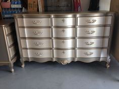 Another Metallic Dresser and End Table Completed.