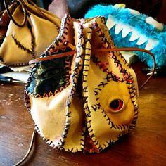 Bag of Many Skins  Creepy Leather Dice Bag