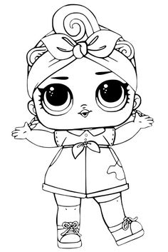 coloring pages lol dolls series Ball-shaped toys with dolls inside are now becoming hits. A toy named LOL Surprise! it was apparently created because of insomnia. Baby Coloring Pages, Unicorn Coloring Pages, Coloring Sheets, Coloring Books, Free Printable Coloring Pages, Coloring Pages To Print, Free Coloring, Christmas Coloring Pages, Lol Dolls