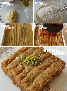 Nevzine Tatlısı Tarifi | Enfes Tarifler Turkish Delight, Turkish Recipes, Food Humor, Tart, Waffles, Deserts, Food And Drink, Favorite Recipes, Cookies