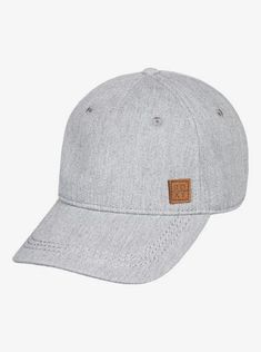 """Featuring cotton twill weave fabric, """"J shape"""" construction, and rounded out with a curved visor. This baseball cap for women makes a worthy addition to the ROXY Headwear Collection. Girls Baseball Hats, Baseball Cap Outfit, Baseball Caps, Fishing Equipment For Sale, Emo Dresses, Party Dresses, Fashion Dresses, Cute Caps, Caps For Women"""