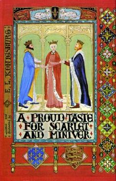"A Proud Taste for Scarlet and Miniver  by E.L. Konigsburg  So funny and if you read it you'll never forget the story of Eleanor of Aquitaine again. ""Eleanor of Aquitaine is in Heaven, waiting to learn whether or not her second husband, King Henry II of England, will be able to join her. Henry had died even before Eleanor, but he still had not won admission into Heaven. Waiting with Eleanor are Henry's mother, Matilda-Empress, and William the Marshal. A chance encounter with Abbot Suger…"