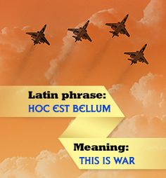War is a horrible thing, and no matter in how many languages you express, it is going to be the same. Penlighten lists out 30 Latin phrases about war with their meanings. Latin Quotes, Latin Phrases, Latin Words, Latin Sayings, Modern English, Maybe Someday, Love Words, English Language, Vocabulary