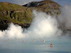 Hete bronnen, Grindavik, IJsland