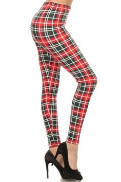 The Gift legging. Red & Green plaid print just in time for the holidays. $15.00