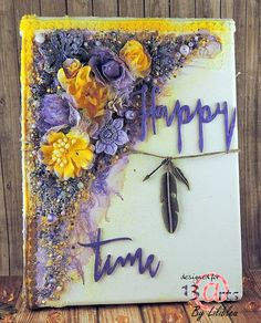 "13arts: Canvas "" Happy Time"" - By Lilibleu"