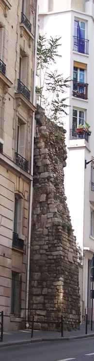 the old wall of Paris, rue Clovis, 5th arrondissment