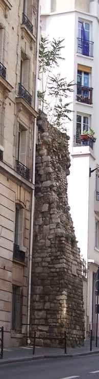 the old wall of Paris, rue Clovis, 5th arrondissment