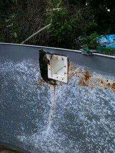 How to fix a rusty above ground pool wall or skimmer. Easy and cheap fix http://www.mypoolspot.com/what-to-do-when-your-above-ground-pool-wall-is-rusty#