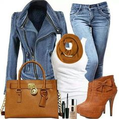 Perfect outfit for winter: #jacket#jeans#boots Jacket:http://goo.gl/Ouz6Yc Jeans:http://goo.gl/MBEU8Q Boots:http://goo.gl/3t64jf