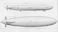 The image below is from a forgotten source, but is clearly a comparison drawing showing the Shenandoah and a proposed but not-yet-built airship.