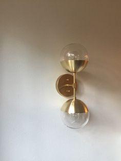 Moderne Messing Licht Duell moderne Messing von TripleSevenHome