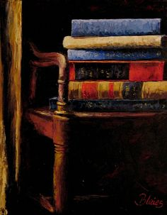 Stacked Books by Pamela Blaies