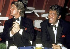"""Dean Martin and son Dean Paul Martin - """"Airport"""" Hollywood premiere party - March 19, 1970"""