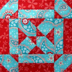 Girl's Joy quilt block, wonderful colors, very interesting blog behind this