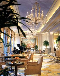 Hotel Four Seasons,  George V, Paris     I won't be able to afford to stay here, but I think I need to visit the lobby.