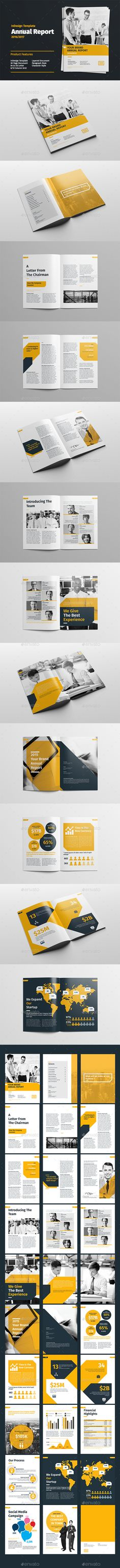Annual Report Template #design Download: http://graphicriver.net/item/annual-report-/12402908?ref=ksioks