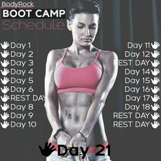 BodyRock Boot Camp – 21 Day Schedule