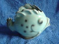Vintage Ceramic Fish Vase