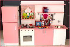 Girls Play Kitchen, Ikea Kids Kitchen, Toddler Kitchen, Kitchen Sets For Kids, Toy Kitchen Set, Cardboard Kitchen, Cardboard Crafts, Bunk Beds Built In, Kids Bunk Beds