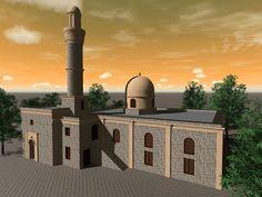 Курсовая работа. Проект реставрации Ага мечети в Нардаране, вид после реставрации.