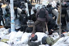 Victim after police attack. Kiev, Ukraine, street Institutskaya, 18.02.2014 | Flickr - Photo Sharing!