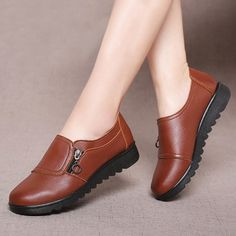 Women Flats Leather Shoes Slip On Loafers Anti Slip Moccasins Ladies Shoes Black Zapatillas Mujer Casual Color Black Shoe Size Brown Slip On Shoes, Black Shoes, Loafer Shoes, Loafers Men, Leather Loafers, Men's Shoes, Leather Slip Ons, Womens Flats, Casual Shoes