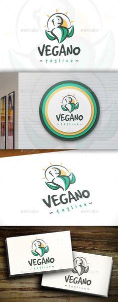 Vegan - Logo Design Template Vector #logotype Download it here: http://graphicriver.net/item/vegan-logo/11423087?s_rank=866?ref=nexion
