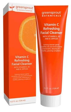 Vitamin C Refreshing Facial Cleanser with Vitamins E, B5, and B. Diffusa,is a calming formula gently emulsifies oils and environmental contaminants for cleaner skin without harsh, abrasive cleansers.