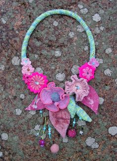 Crocheted necklace ♥