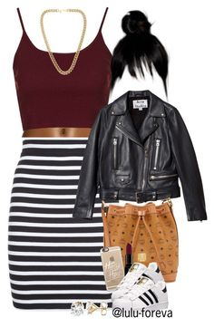 """""""Untitled #1603"""" by lulu-foreva ❤ liked on Polyvore featuring Andrea, Topshop, T By Alexander Wang, Acne Studios, MCM, Casetify, Smashbox, adidas and Kenneth Jay Lane"""