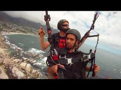 Paragliding over Cape Town.   #FunHolidays #travel  #CapeTown #paragliding