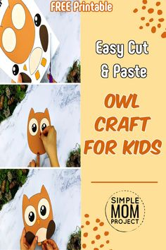 The wise old forest Owl is here to help your kids learn the letter O! This cute Forest Animal Crafts, Animal Crafts For Kids, Crafts For Kids To Make, Printable Christmas Cards, Printable Crafts, Owl Crafts, Preschool Crafts, Woodland Nursery, Woodland Animals