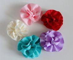 Flower hair accessory, wedding flower, rose clip, carnation clip, pink flower, blue flower, red flower, purple flower, cream flower.