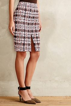 Rouged Plaid Pencil Skirt - anthropologie.com #anthrofave