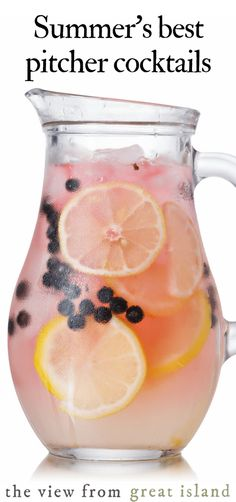 Pitcher Cocktails are a host's best friend. Easy make-ahead cocktail and mocktail recipes for summer parties and barbecues. Pitcher Cocktails are a host's best friend. Easy make-ahead cocktail and mocktail recipes for summer parties and barbecues. Summer Parties, Summer Drinks, Party Drinks, Fun Drinks, Beverages, Cocktail Parties, Party Party, Pitcher Drinks, Sangria Pitcher