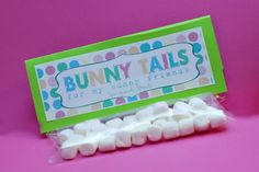 "Another Easter happy! ""Bunny tails"" just mini marshmallows! So cute"