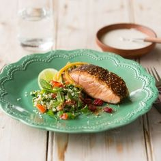 Try our delicious Dukkah crusted Huon Salmon recipe prepared with Huon Aquaculture products.