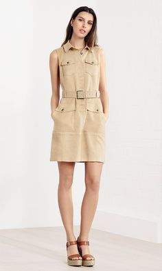 Karen Millen Spring | Summer 2016 - Faux suede safari dress