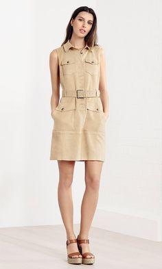 Karen Millen Spring | Summer 2016 - Faux suede safari dress