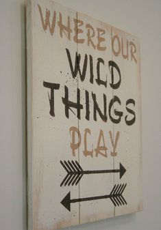 Where Our Wild Things Play Pallet Sign Playroom Decor